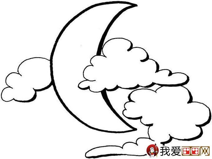 月球简笔画:月亮简笔画图片大全(2)