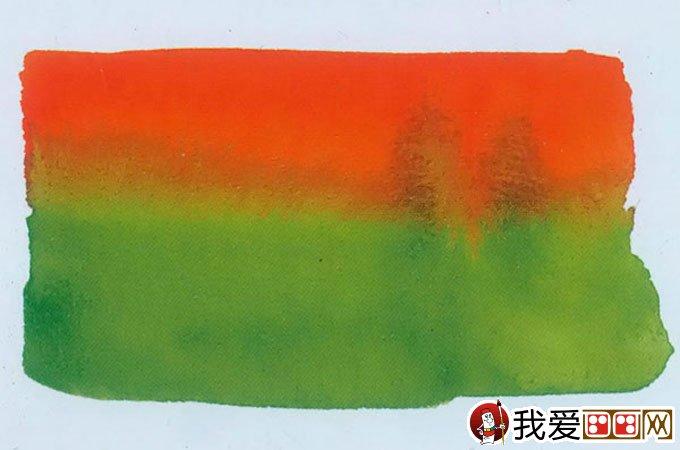 水彩画基本涂色技法:水彩画渐变法图文教程39