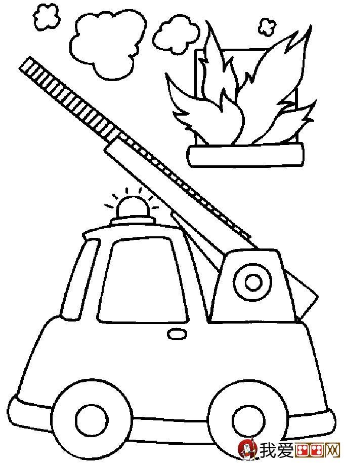 儿童消防车简笔画图片大全(2)-儿童简笔画 和平鸽简笔画图片图片