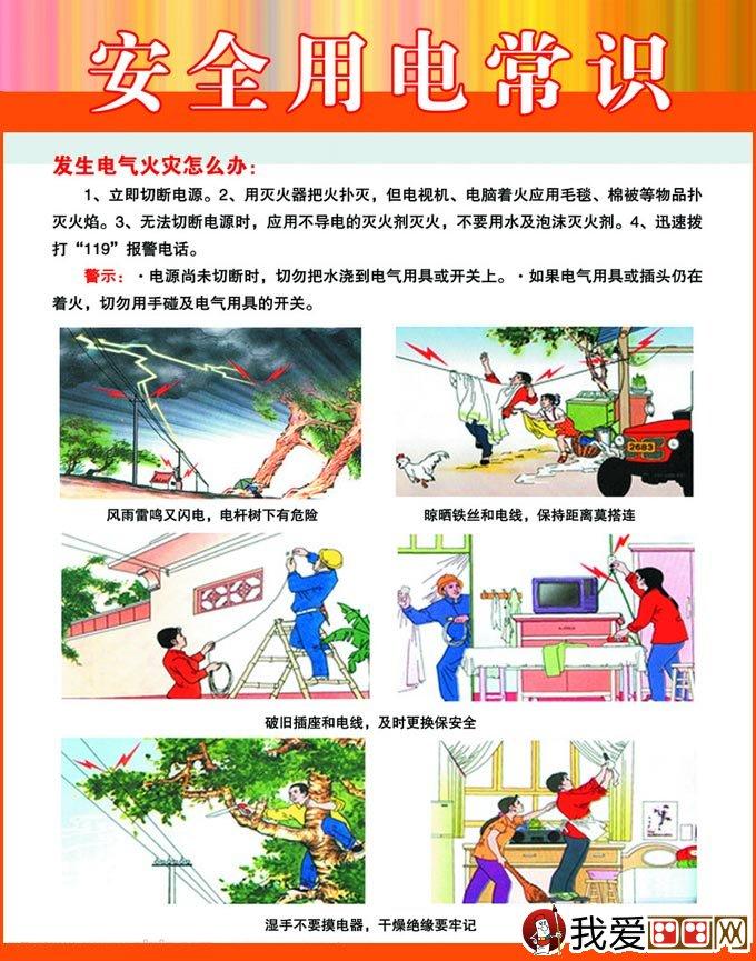 安全用电板报宣传图,安全用电漫画展板设计