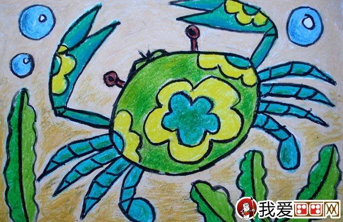幼儿油画棒绘画作品:动物油画棒儿童画大全