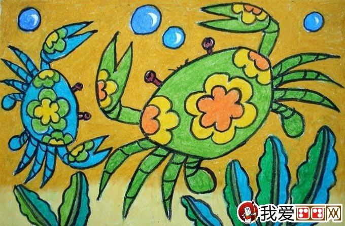 幼儿油画棒绘画作品:动物油画棒儿童画大全(2)