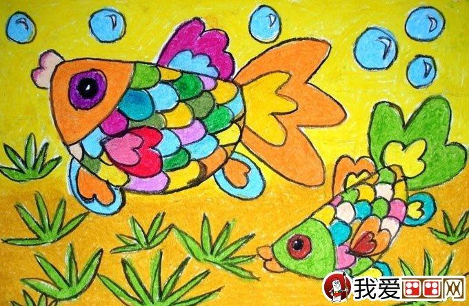 幼兒油畫棒繪畫作品:動物油畫棒兒童畫大全(3)