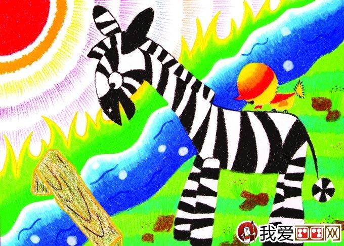 幼儿油画棒绘画作品:动物油画棒儿童画大全(5)
