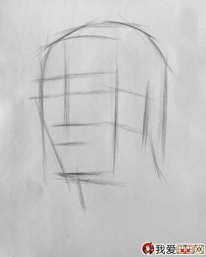 如何绘制素描头像结构图:素描头像结构分析图教程