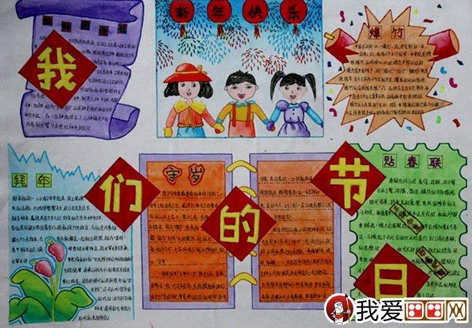 三幅最漂亮的迎春节庆新年手抄报-强烈推荐