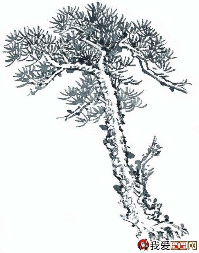 国画松树的画法:松柏松树水墨画图片大全69p之水墨黑白篇(4)