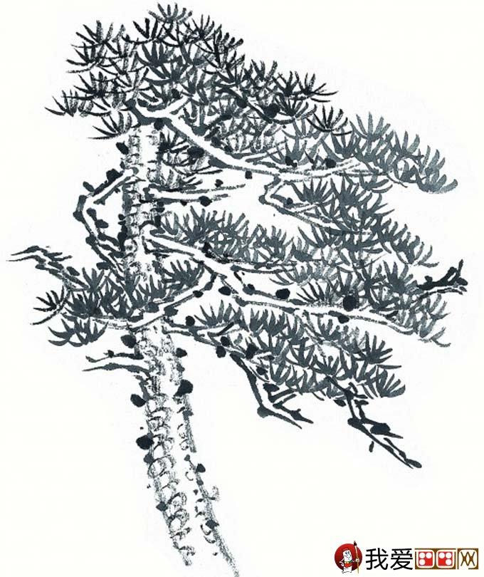 design 简笔画黑白树风景_风景520  风景速写松树的画法_风景520