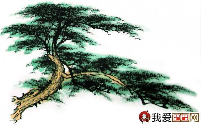 松柏松树水墨画图片大全之设色篇65