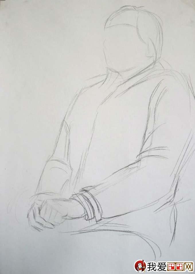 女性人物素描半身像绘画教程及高考美术素描训练注意图片