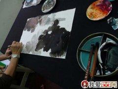 泼墨荷花画法:张大千泼墨泼彩荷花的绘画技法教程