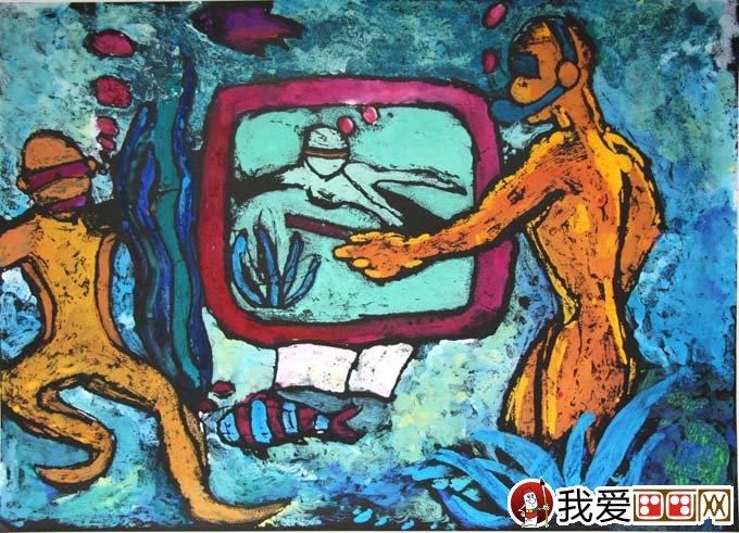 科幻画《人类与海洋》:沈家门一 2009年上海市普陀区青少年科技创图片