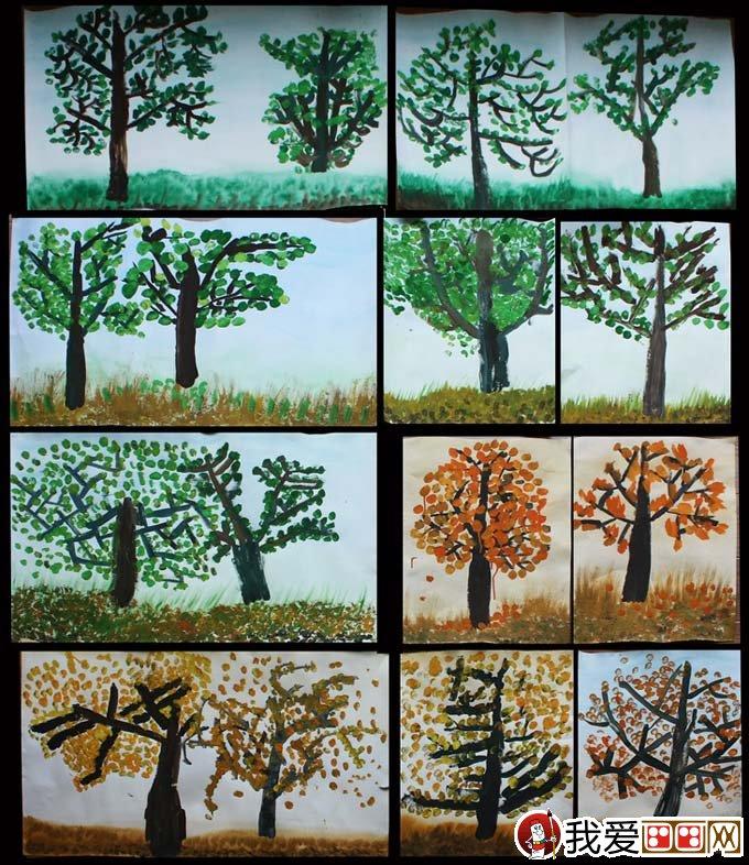 各种各样的 水粉画树:南京市秦淮区白下区美术教研组在梅花山庄图片