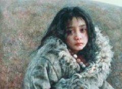 艾轩写实油画作品西藏女孩系列18P