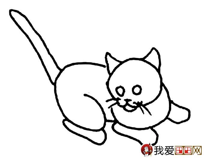 猫的简笔画大全 可爱动物简笔画猫图片16副(6)