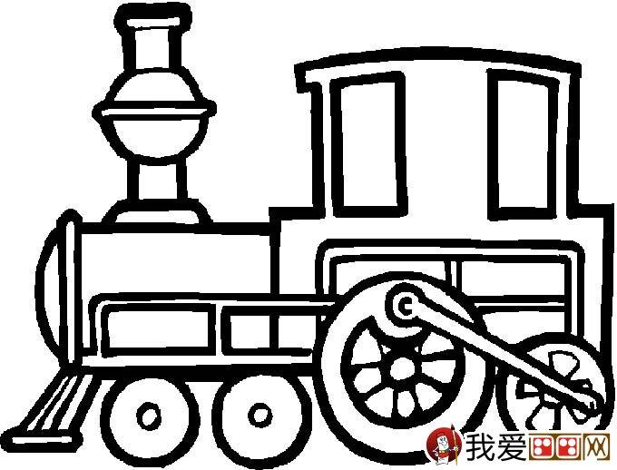 儿童简笔画火车 有关火车简笔画图片大全