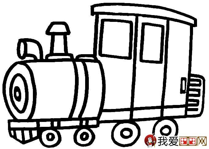 儿童简笔画火车 有关火车简笔画图片大全 3