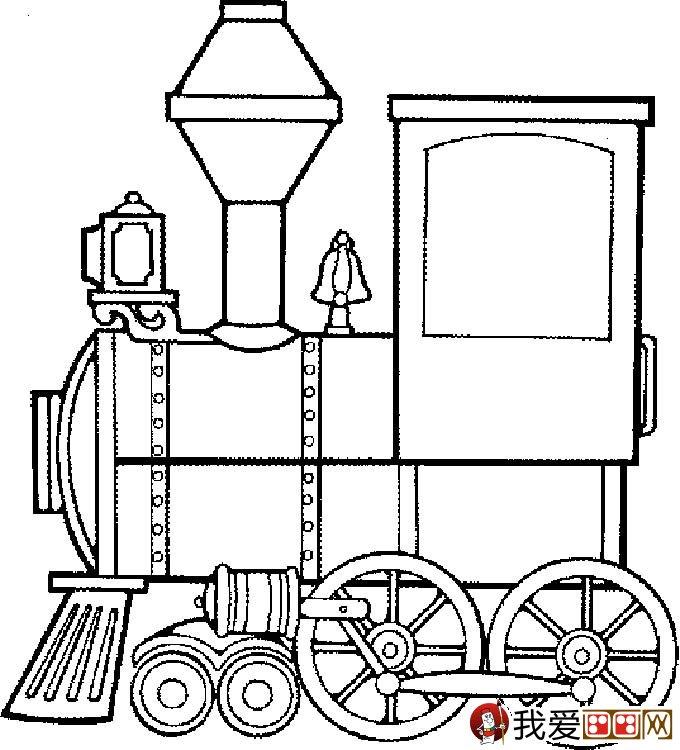 儿童简笔画火车 有关火车简笔画图片大全 5