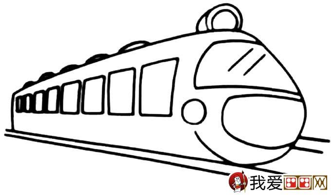 儿童简笔画火车 有关火车简笔画图片大全 6