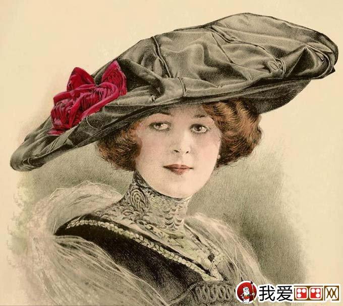 超级写实素描12p:欧洲古典美女头像彩色铅笔素描高清图片(6)