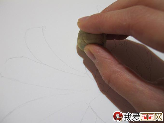 彩铅画花卉绘画教程 彩色铅笔画石蒜的手绘过程 2