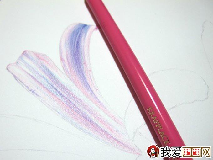 彩铅画花卉绘画教程 彩色铅笔画石蒜的手绘过程 6