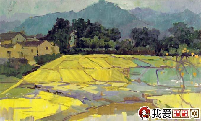 【水粉风景画作品:关于远山的水粉画表现形式】-水粉风景中如何画