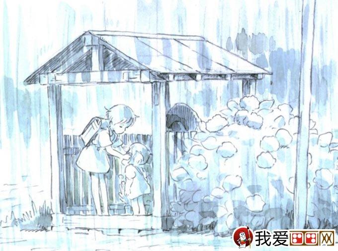 宫崎骏作品:宫崎骏动漫绘画手绘稿作品大全(一)
