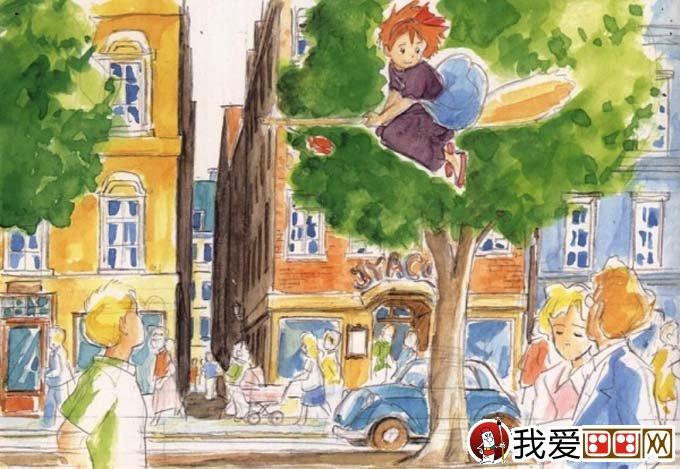 宫崎骏作品:宫崎骏动漫绘画手绘稿作品大全(四)(6)
