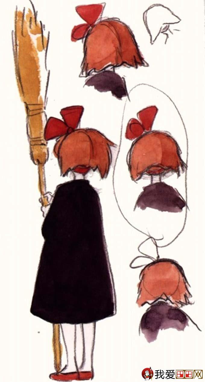 宫崎骏作品:宫崎骏动漫绘画手绘稿作品大全(四)(13)