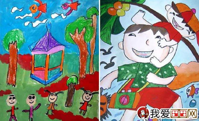 儿童画春游 关于春天春游的儿童画图片大全(2)-有关于春节的儿童画