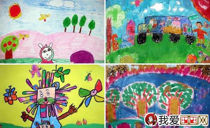儿童画春游 关于春天春游的儿童画图片大全(3)