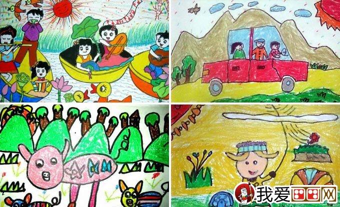 儿童画春游 关于春天春游的儿童画图片大全(5)