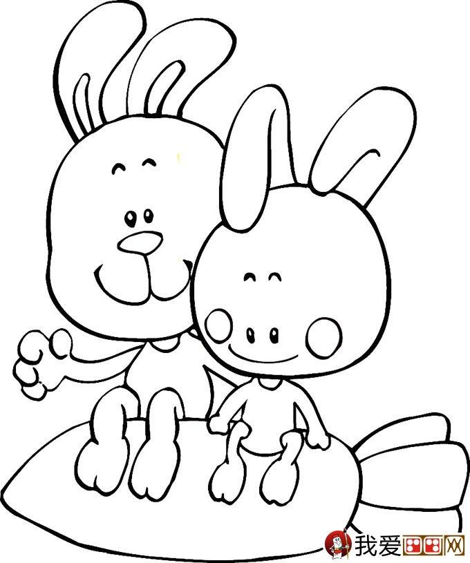 可爱的兔子简笔画图片大全(4)-忧伤兔子简笔画