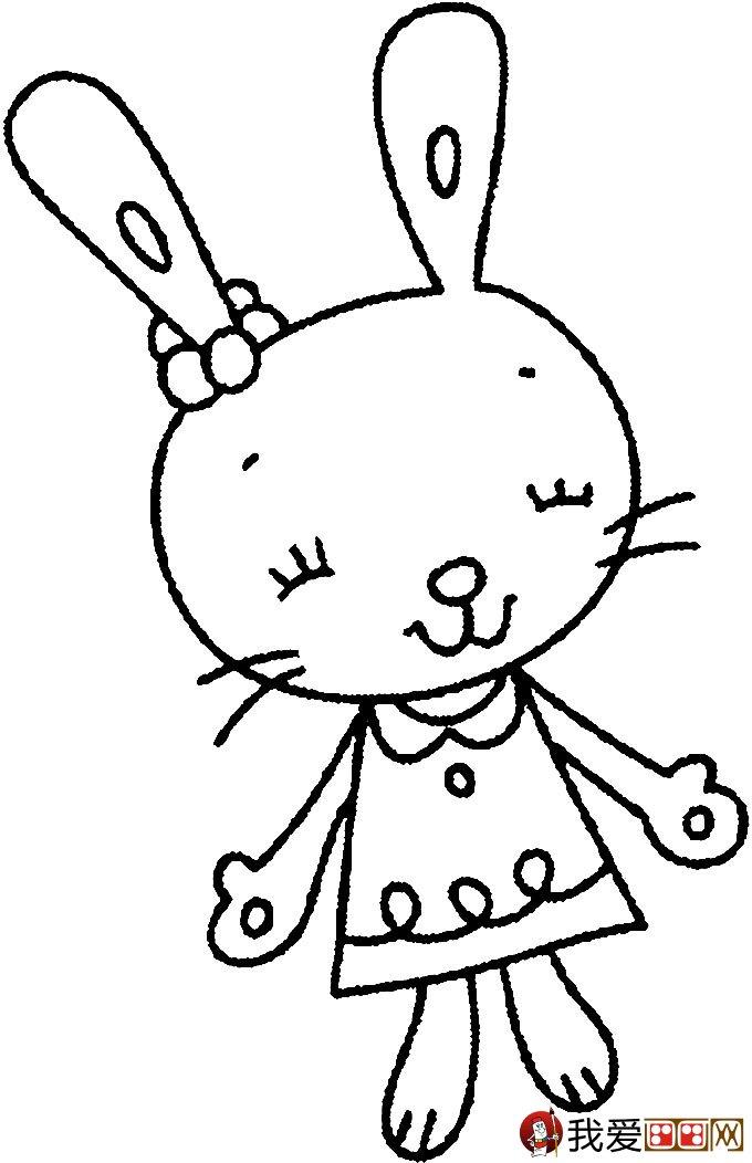 可爱的兔子简笔画图片大全(3)