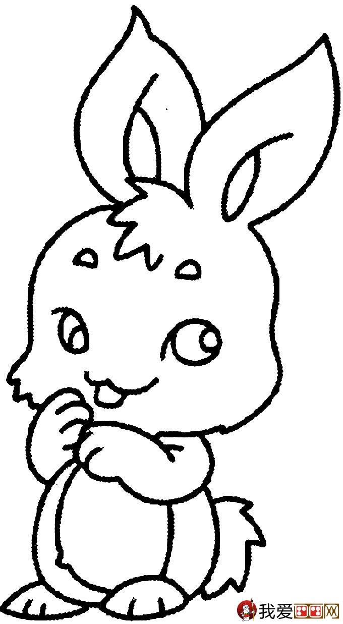 可爱的兔子简笔画图片大全 9