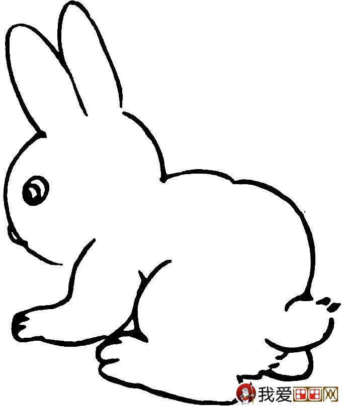 可爱的兔子简笔画图片大全(10)
