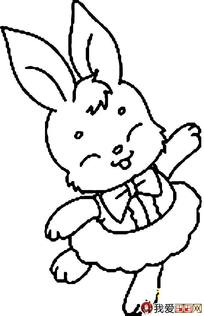 小兔子简笔画,兔子简笔画图片-首页 图片 简笔画 玉兔的简笔画 兔子