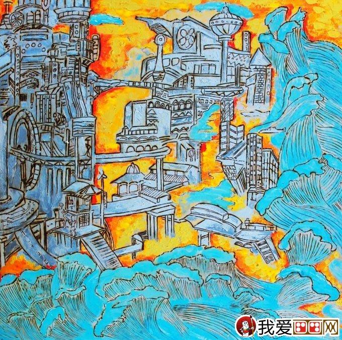 小学生科幻画一等奖 能源环保类科幻画 海洋资源转换器