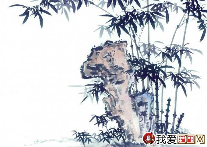水墨画怎么画竹子视频图片