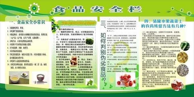 食品安全黑板报 关于食品安全的宣传板报图片