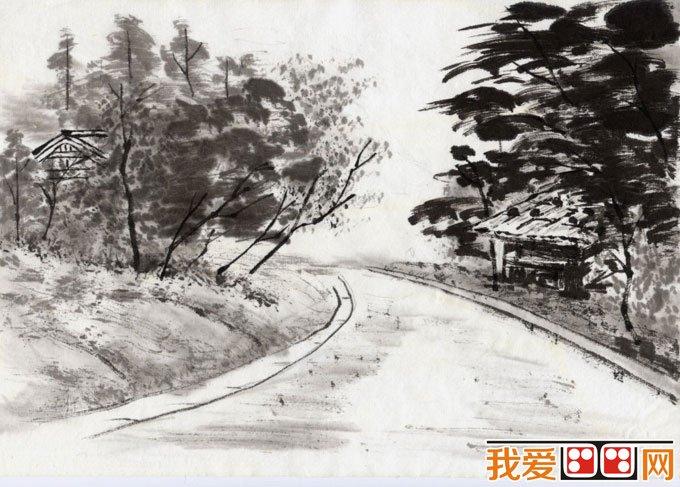 初学风景水墨山水画必看:简单的水墨山水画图片92副(15)