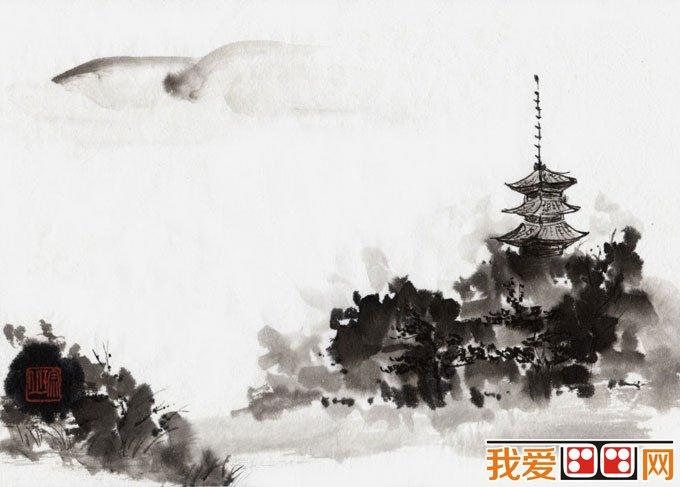 初学风景水墨山水画必看 简单的水墨山水画图片92副 6图片