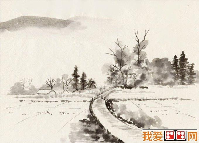 初学风景水墨山水画必看 简单的水墨山水画图片92副 9图片