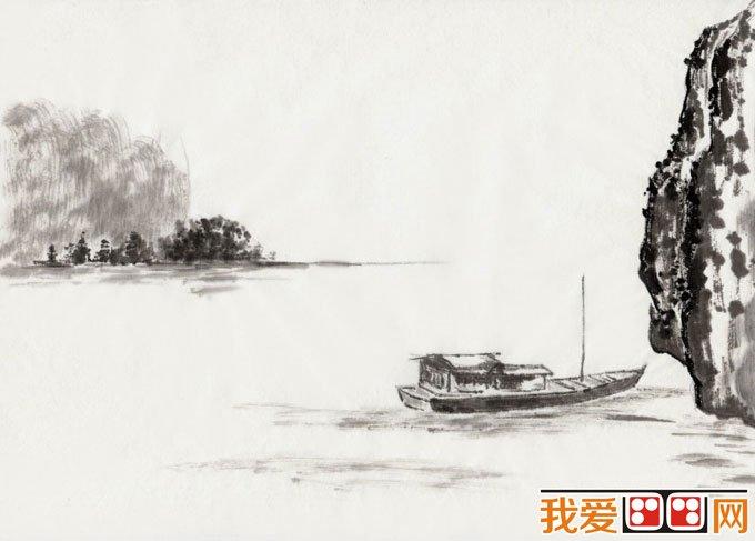 初学风景水墨山水画必看 简单的水墨山水画图片92副 10图片