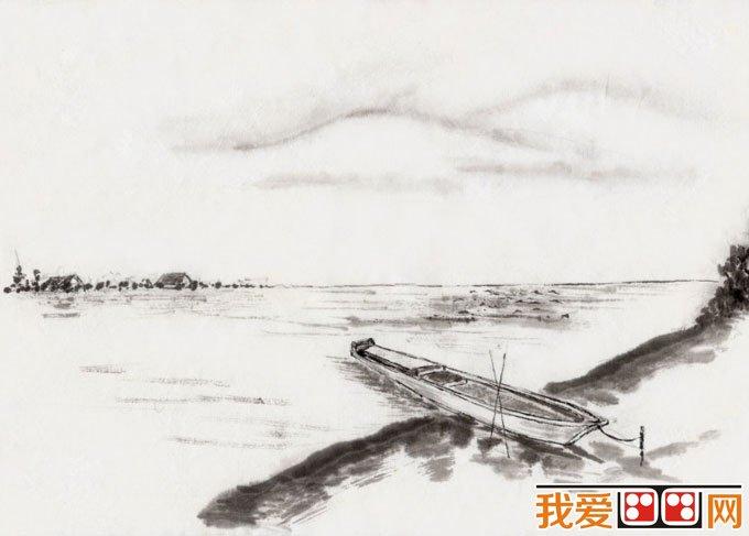 初学风景水墨山水画必看 简单的水墨山水画图片92副 11图片