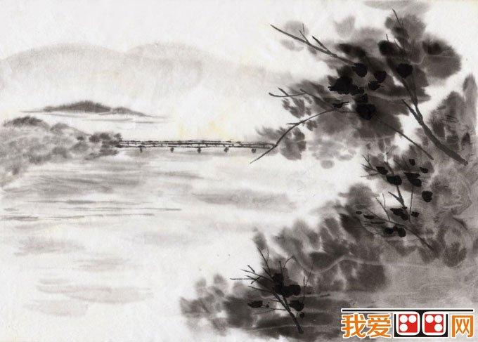 初学风景水墨山水画必看 简单的水墨山水画图片92副 12图片