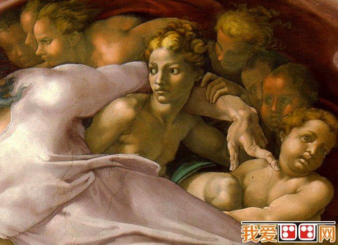 《创造亚当》_米开朗基罗《创世纪》西斯廷天顶壁画局部(3)