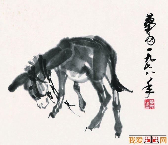 黄胄画集:黄胄的驴水墨画,黄胄画驴作品大全
