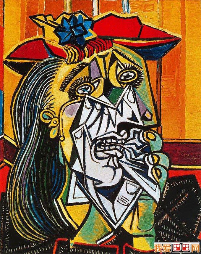 毕加索抽象画图片